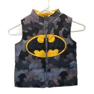 Batman Vest Camouflage Boys 5T Puffer Gray Yellow